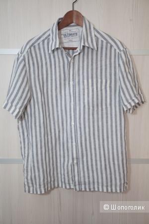 Рубашка льняная Marks & Spenser 50 размер