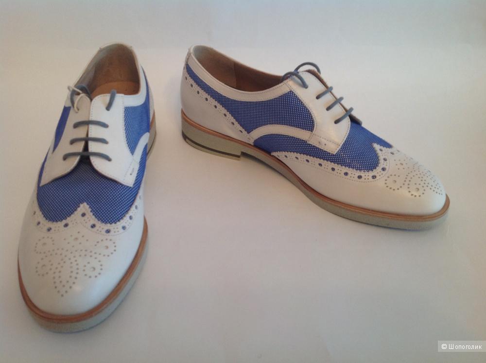 Стильные итальянские новые супермодные ботинки бренда Fratelli Rossetti One размер 38,5-39