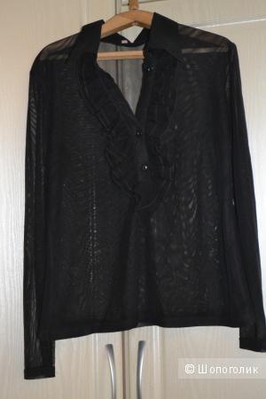 Новая прозрачная черная блузка, размер М