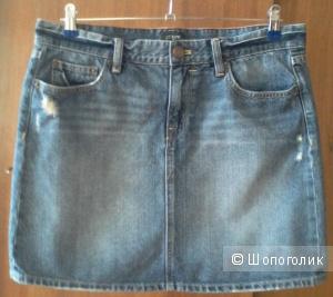 Джинсовая мини-юбка JCREW, размер 42-44