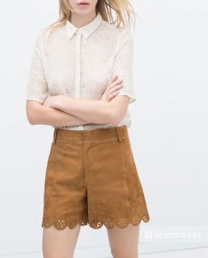 Новые шорты Zara из натуральной замши . Размер 44,46