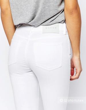 Waven Petite Freya Ankle Grazer Skinny Jeans - White / UK 8