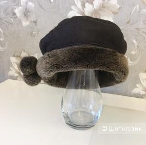 Женская меховая шапка р.54-56