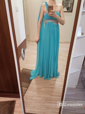 Вечернее платье со стразами р.44