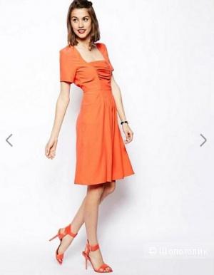 Платье миди с присборенным дизайном спереди asos