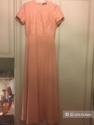 Розовое платье в пол р-р 44-46