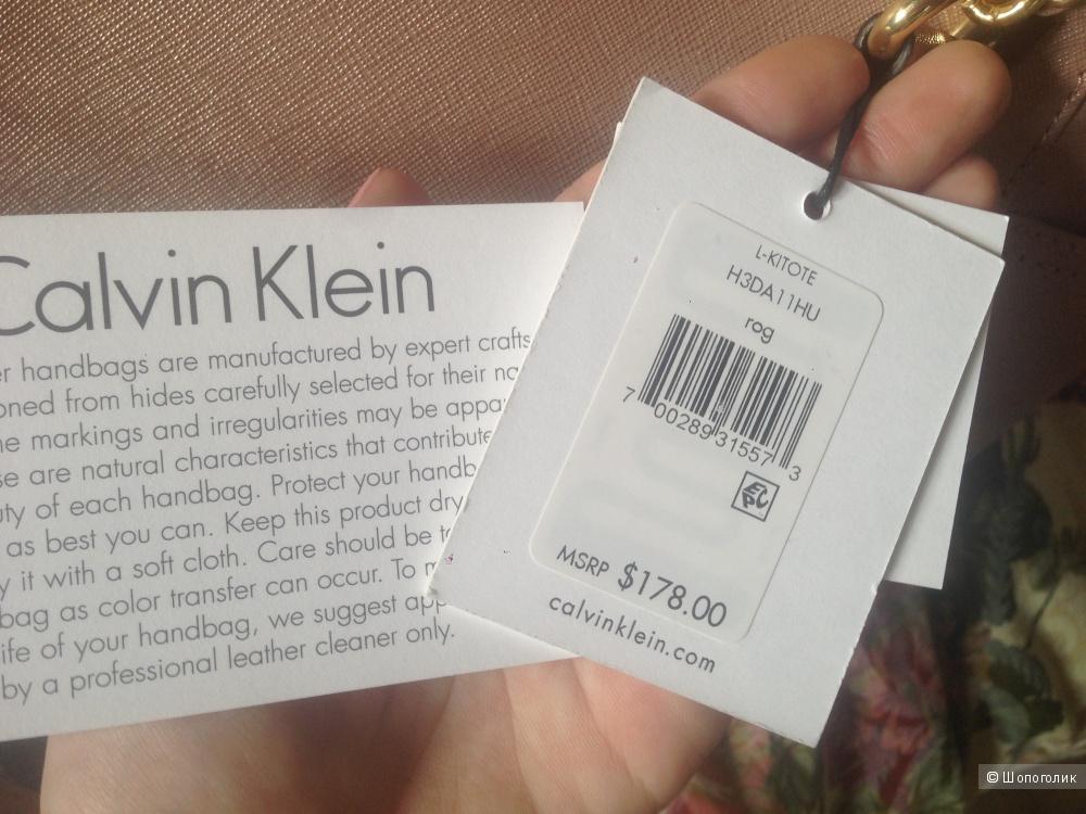 Сумка Calvin Klein оригинал из США, натуральная кожа, новая
