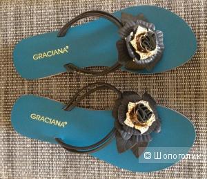 Шлепки летние от итальянского бренда GRACIANA, размер 36,5