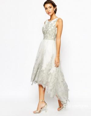 Ассиметричное кружевное платье с вышивкой Chi Chi