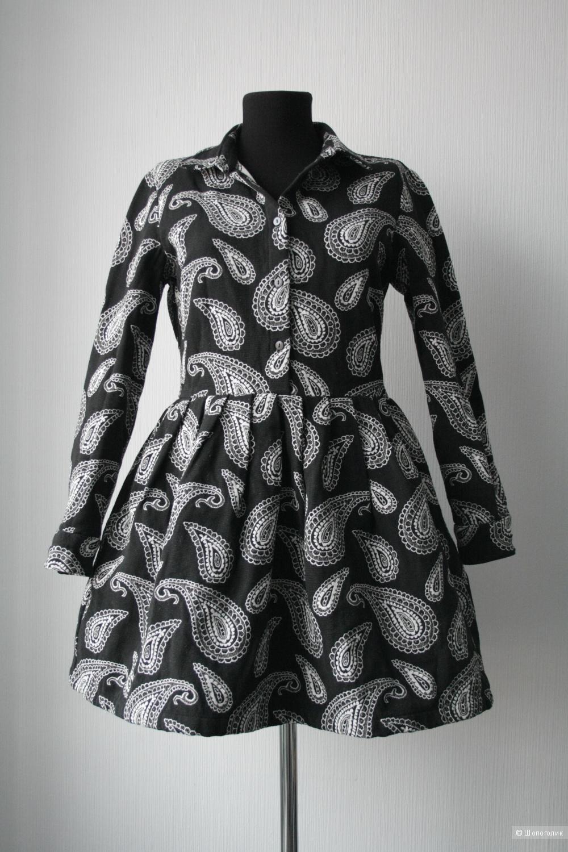 Короткое приталенное платье с жаккардовым узором пейсли ASOS