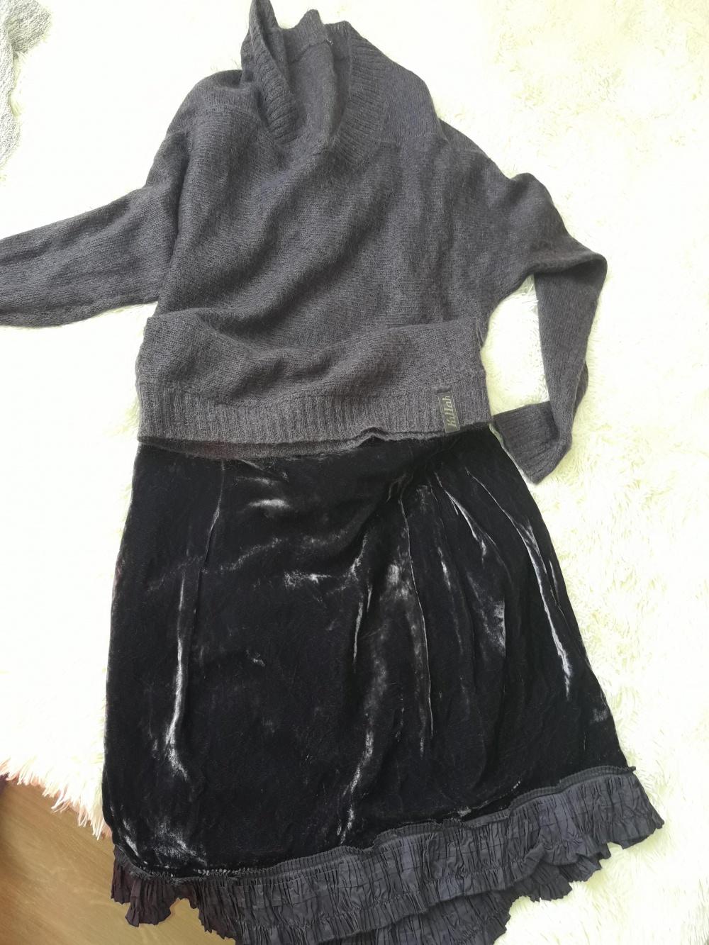 Актуальная бархатная юбка Apriori размер 42.