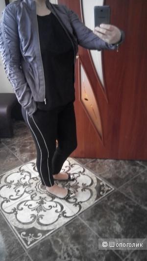 Красивая легкая куртка-жакет, натуральный шелк Linea,  uk 10, цвет пыльной розы