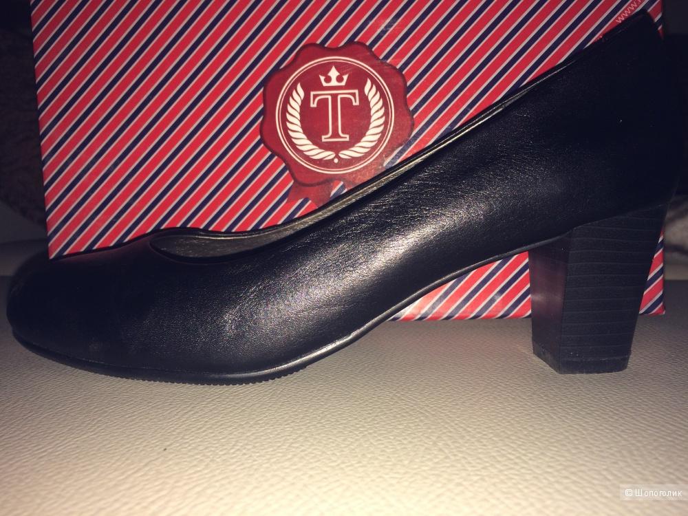 Туфли tervolina новые, натуральная кожа р.38