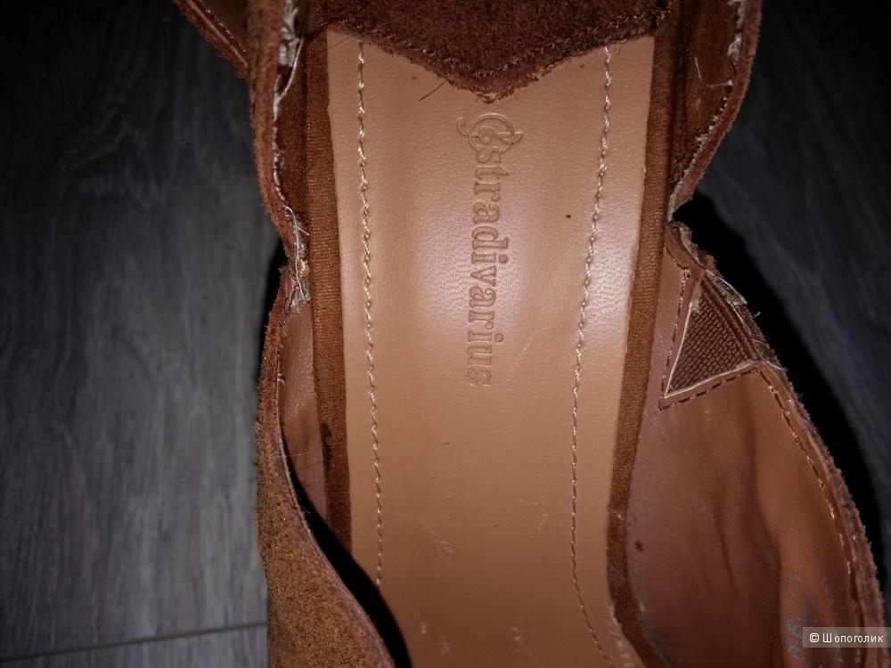 Туфли stradivarius замшевые