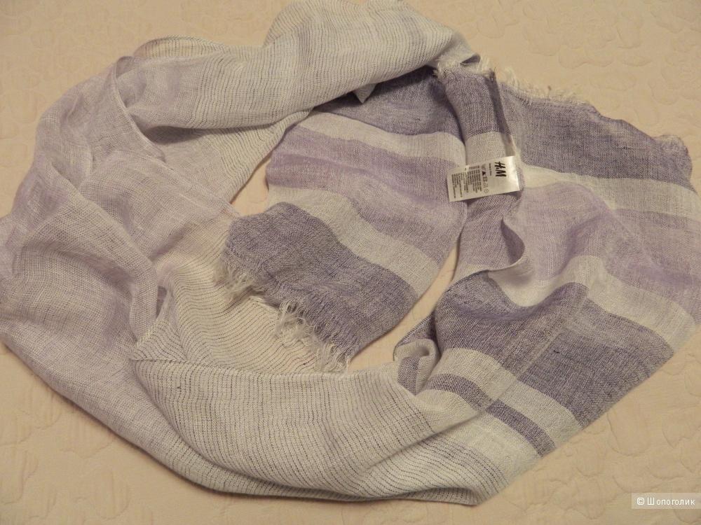 Новый льняной  шарф/палантин H&M