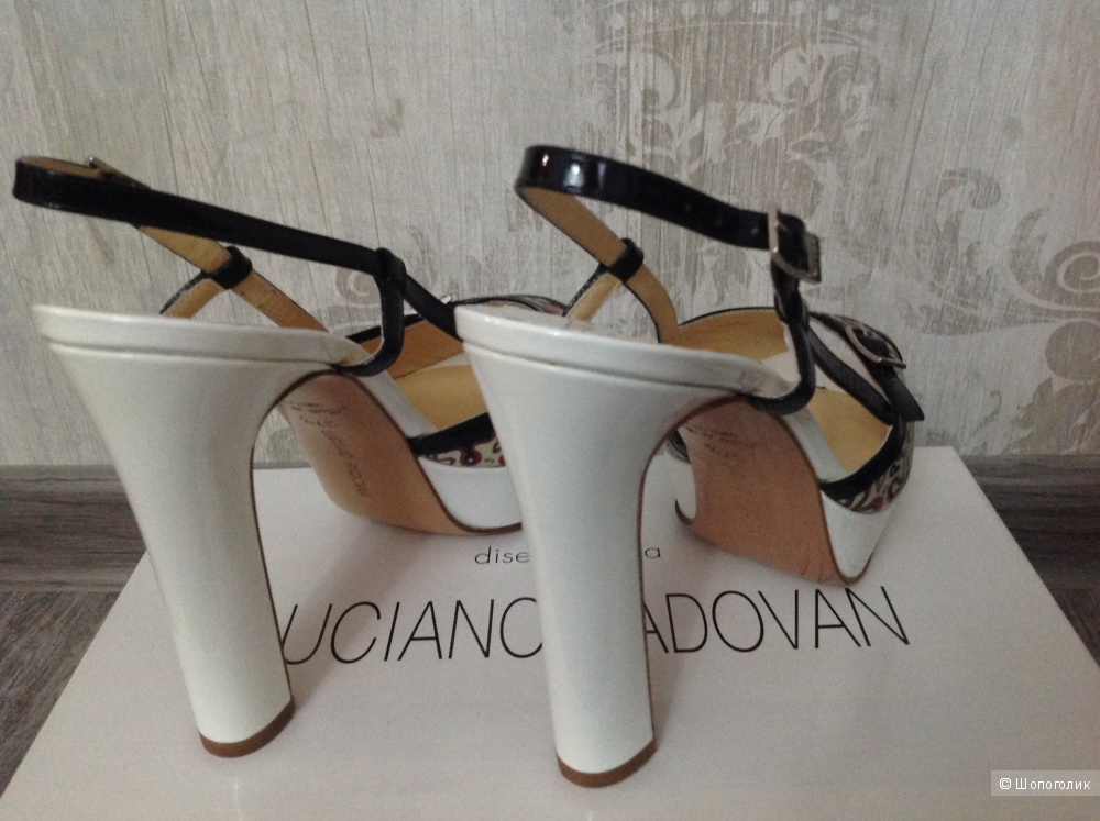 Luciano Padovan новые красивые итальянские босоножки, размер 37,5