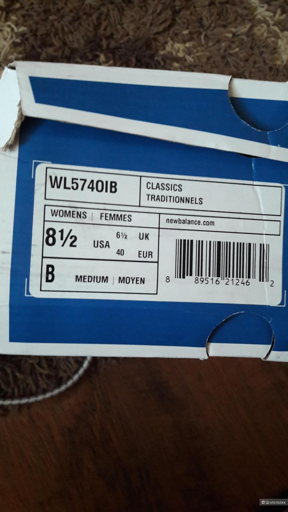 Кроссовки  NEW BALANCE 574,  39 размер