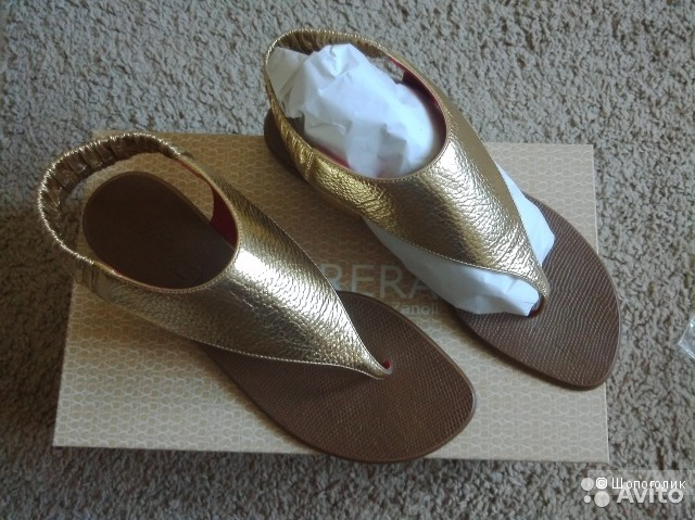 Золотые сандалии Dibrera 38