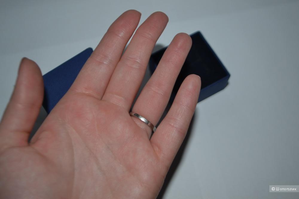 Кольцо Swarovski оригинальное, бу , размер кольца  17