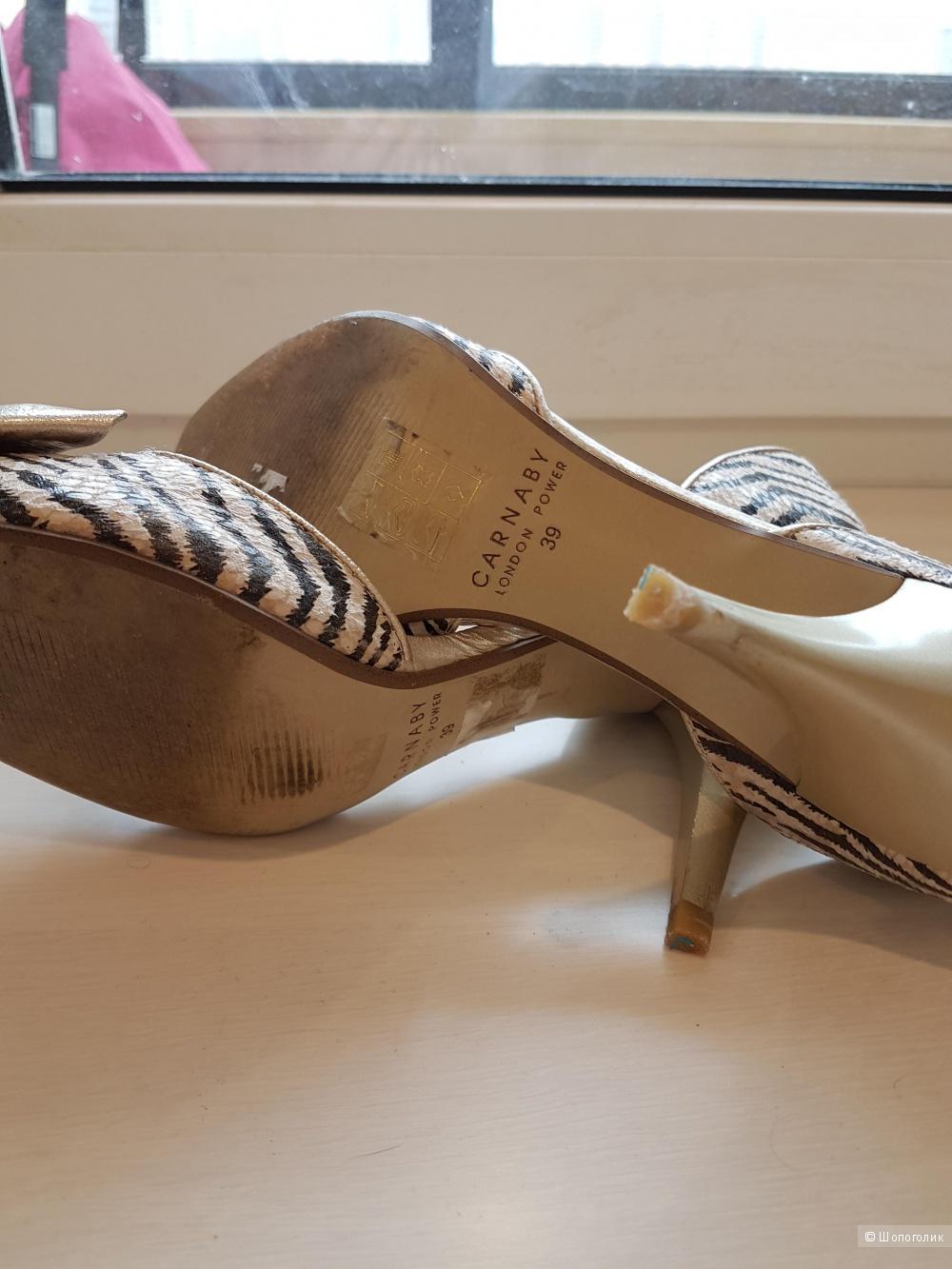 Туфли из натуральной кожи 39 размера