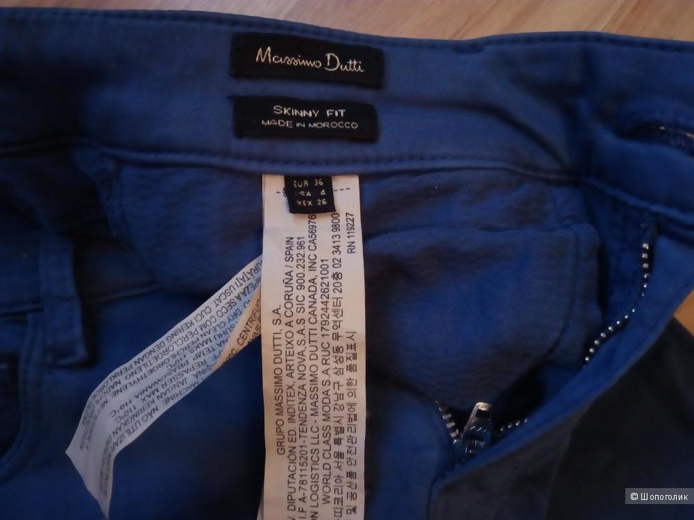 Брюки скинни   Massimo Dutti 36 размер синие