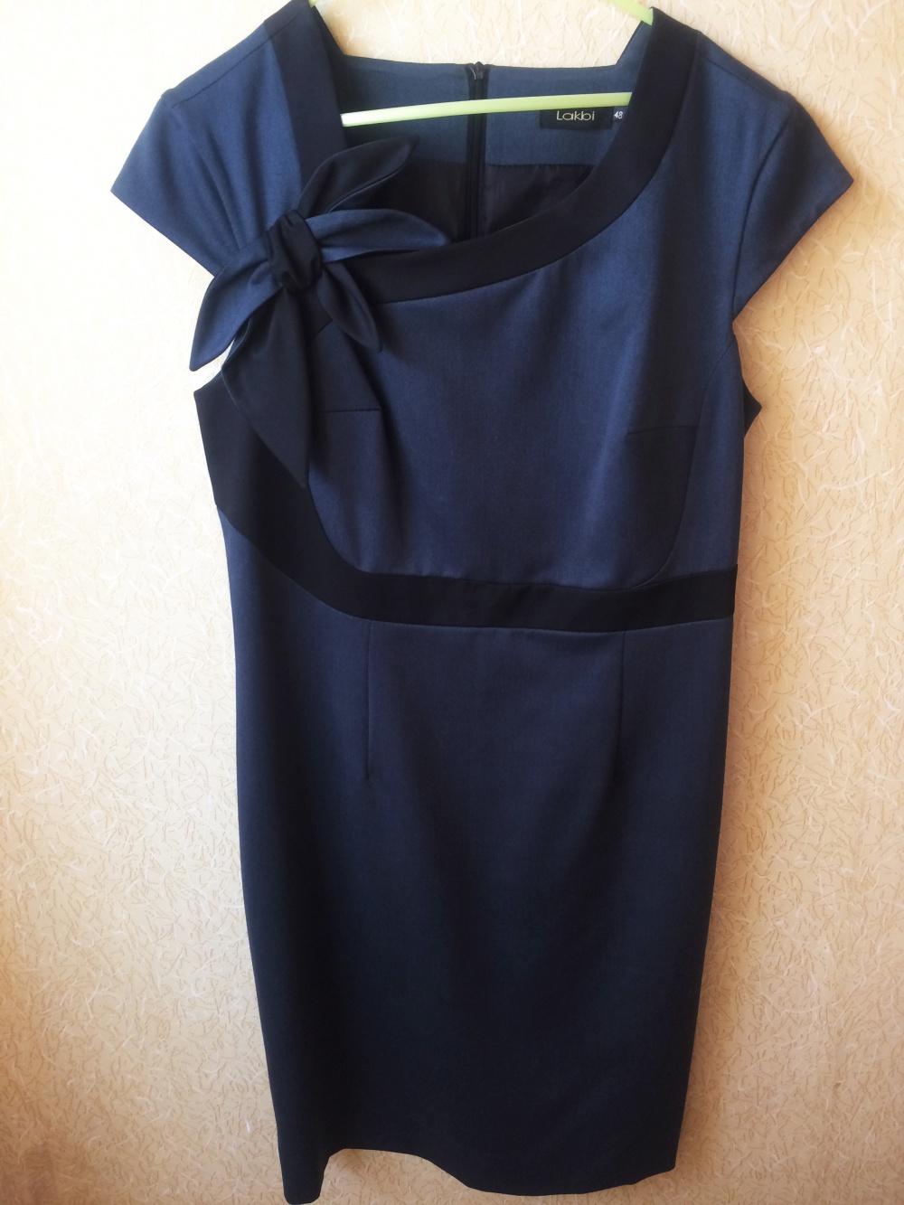 Серое платье-футляр Lakbi (48 р-р)