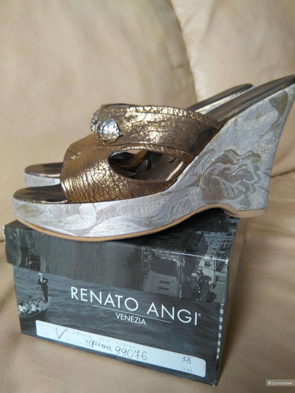 Сабо RENATO ANGI (Италия), р. 38, натуральная кожа, оригинал