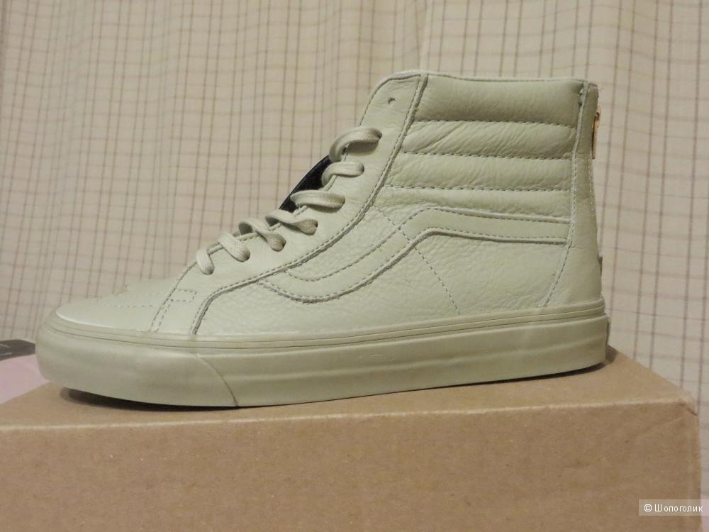 Высокие кожаные кеды Vans-SK8-Hi Reissue CA размер 9,5US