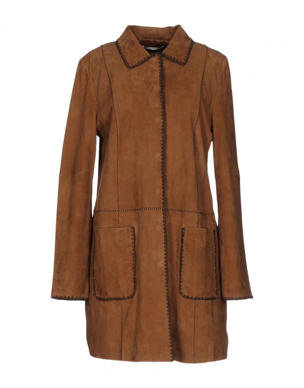 Пальто Stefanel натуральная замша