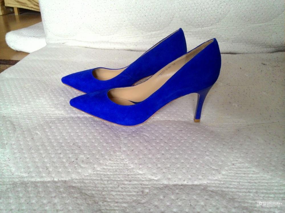 Ярко-синие туфли Tervolina, 37 р-р