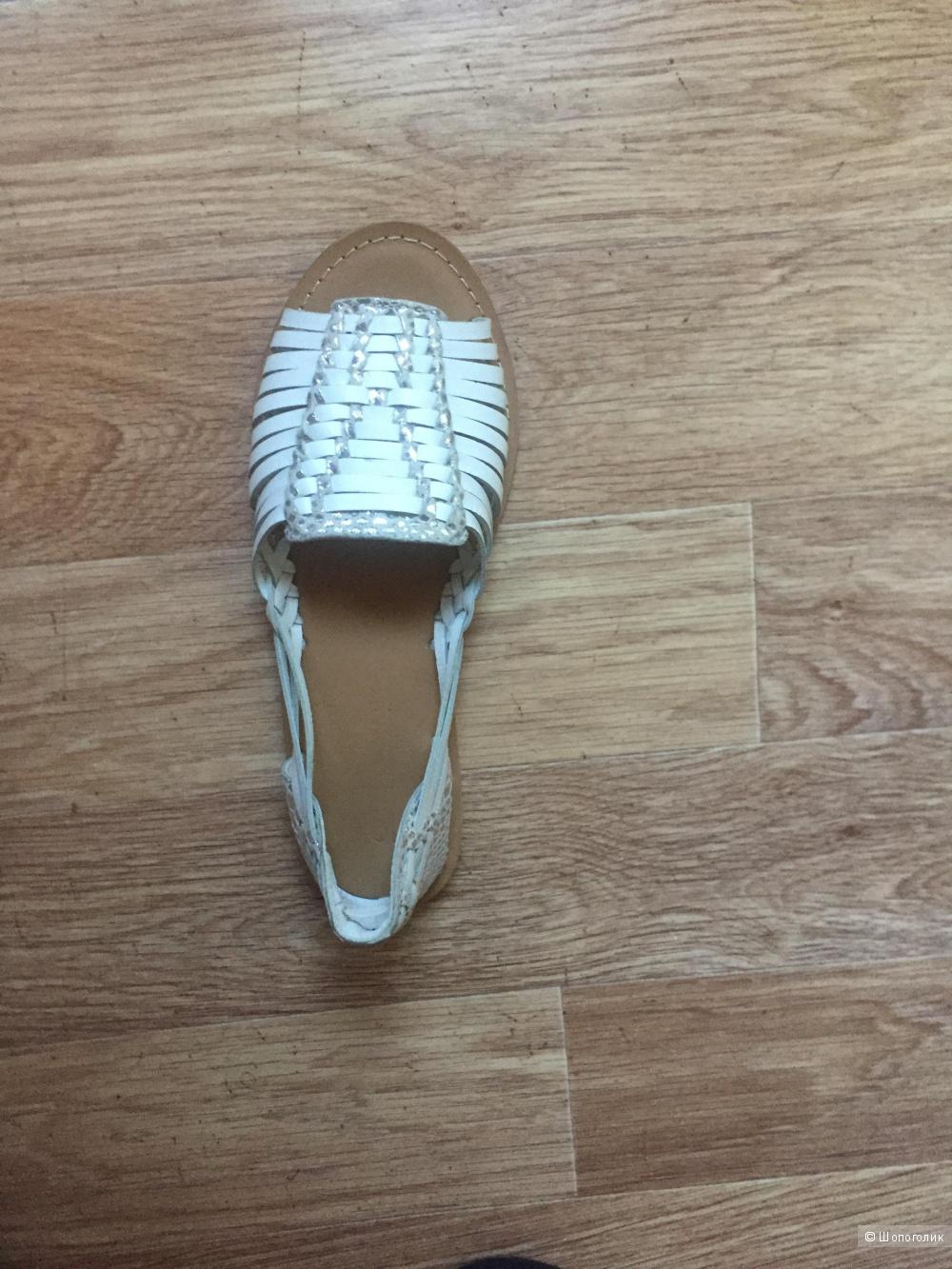 Плетёные кожаные туфли для широкой стопы,р.40