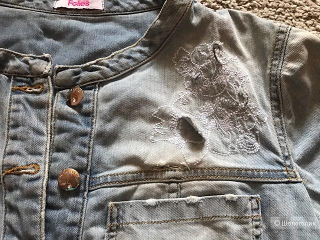Новая летняя укороченная джинсовая курточка известного бренда BLUGIRL FOLIES, US 10 (48 росс)