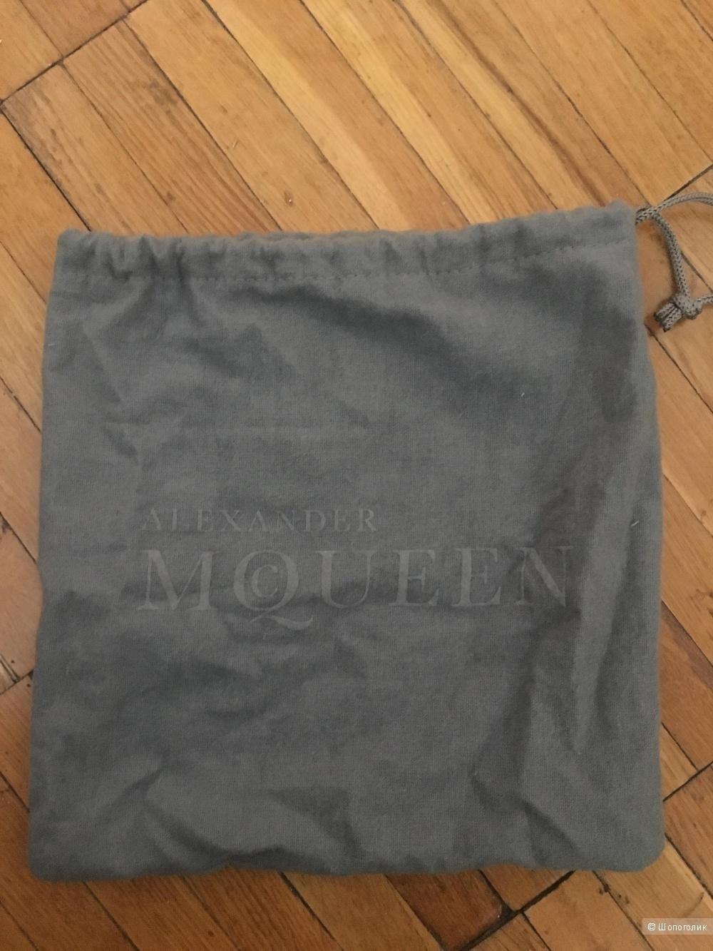 Черный кожаный ремень Alexander McQueen, размер 80,