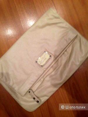 Большой кожаный клатч-сумка Marc Jacobs