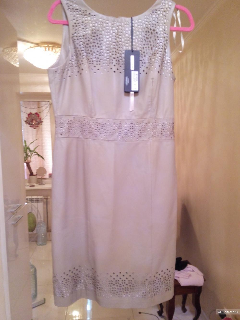 """Платье из натуральной кожи с вырезами лазером размер 12UK, """"MARKS AND SPENCER""""  AUTOGRAF"""