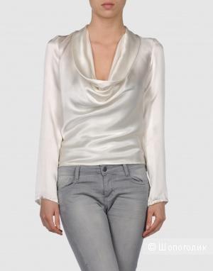 Шёлковая блузка, белая, 42IT BRIAN DALES, Италия
