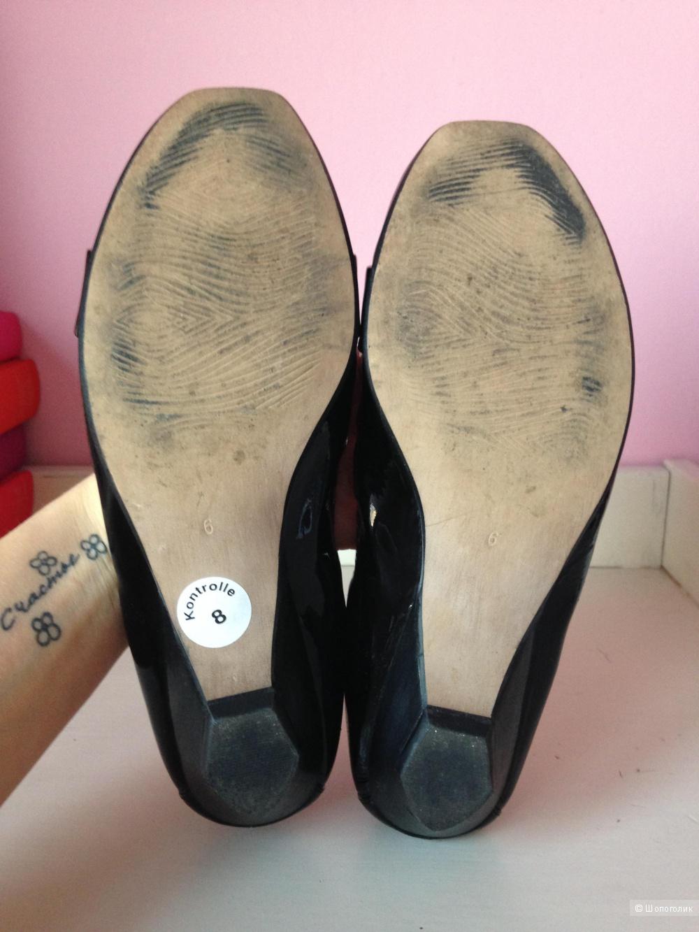 Классные макасины SEMLER из лаковой кожи, размер 6