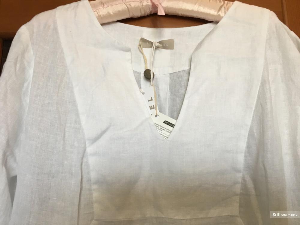 Льняное платье STEFANEL , 48 (Российский размер) дизайнер:46 (IT) Белый