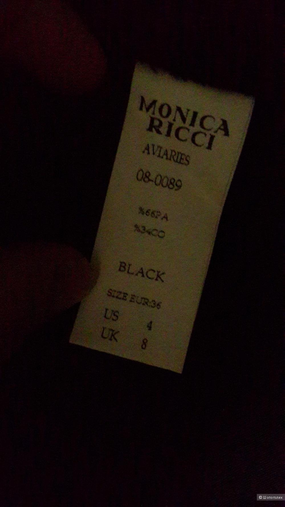 НОВЫЙ плащ Monica Ricci черный 36-40 размерa