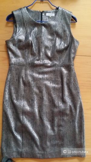Теплый сарафан Calvin Klein благородного цвета червонного серебра  48 размера