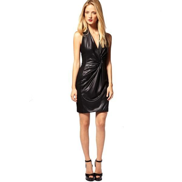 """Платье чёрное с """"влажным эффектом"""", Karen Millen UK10, рос.42-44, новое"""