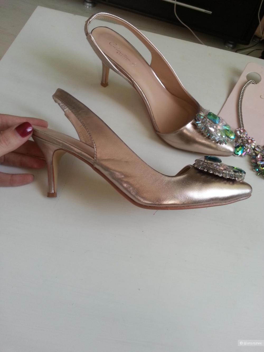 Туфли открытые нарядные  38 размер Мохито Селебрейшн коллекция
