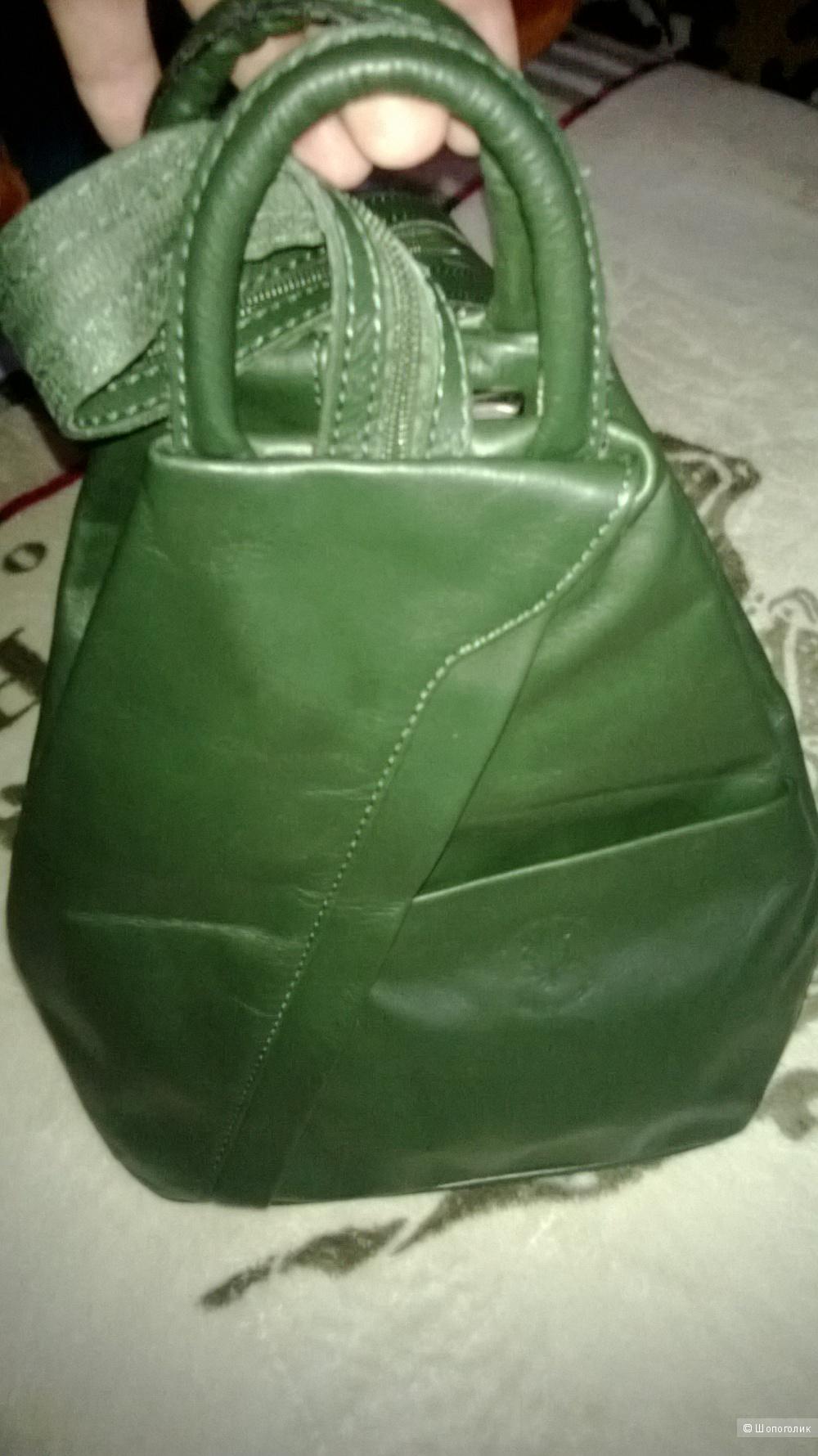 Итальянский кожаный рюкзачок.