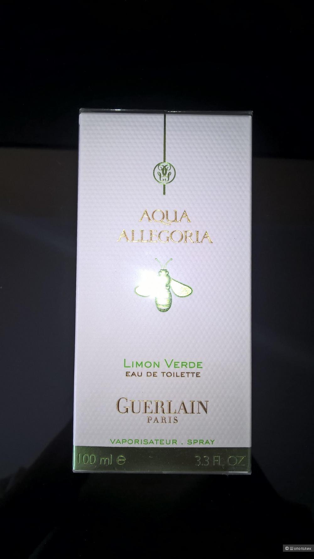 Туалетная вода Guerlain Aqua Allegoria Limon Verde 100 мл новая запечатанная в слюде