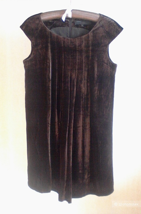 Сет: бархатное платье Next + топ из бархатного кружева Benetton, размер S