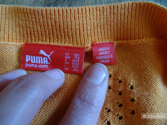 """Мужской джемпер цвета """"апельсинка"""", Puma, размер XXL,б/у"""