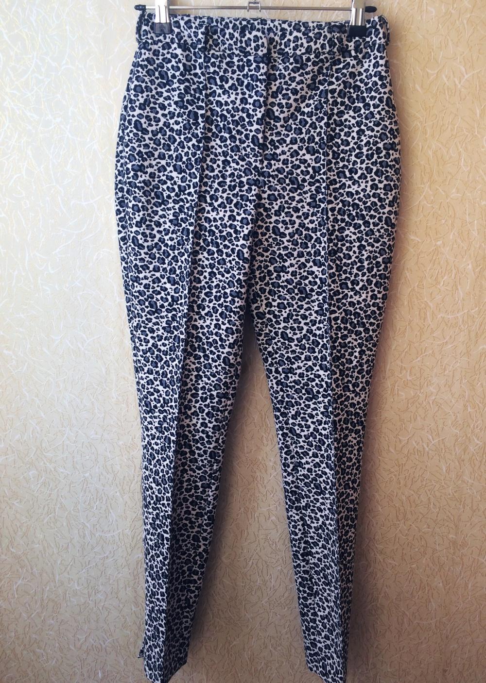 Новые узкие брюки с леопардовым принтом ASOS (6 UK)