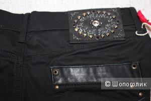 Брюки/джинсы WE ARE REPLAY, 29 размер (46 RUS), цвет черный.