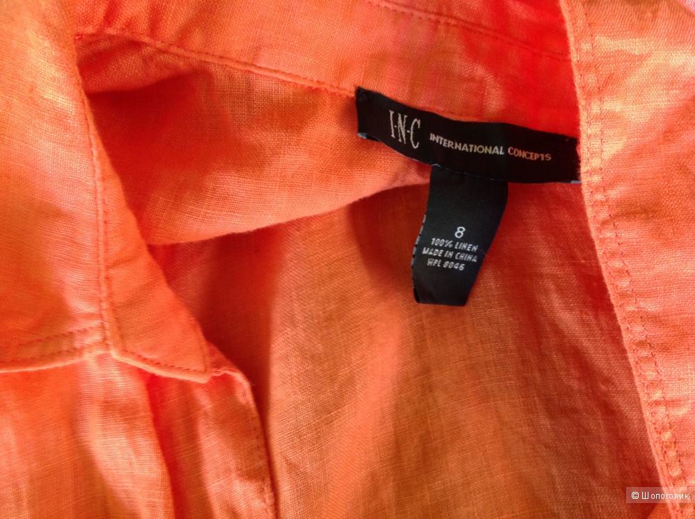 Льняная рубашка новая INC International 8US