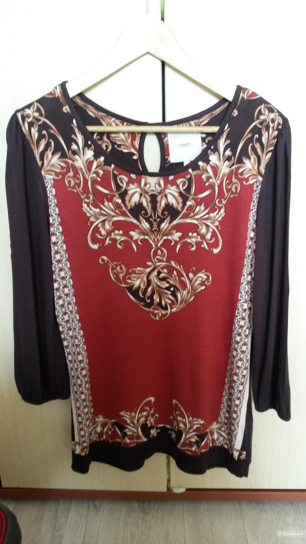 Блузка Next, размер 12 на 46рос.Цвет бордо